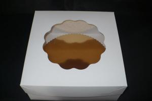 Pudełka dwuczęściowe z okienkiem na torty duże