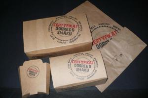 Opakowania dla gastronomii i Fast Foodów - seria CERTYFIKAT