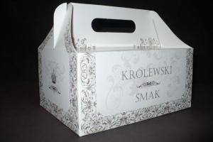 Pudełko na ciasto oklicznościowe 'Królewski Smak'