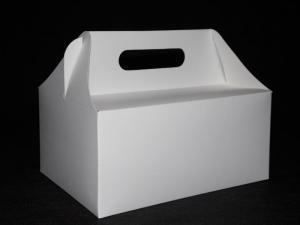 Pudełko na ciasto koszyczek białe rozm. 19x14x9
