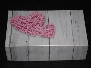 Pudełko na ciasto Serca plecione rozm.25x15x8