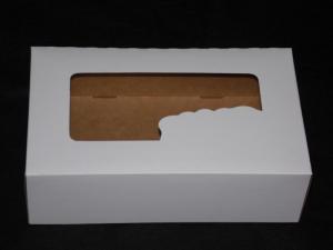 Opakowania na ciasto białe bez druku z okienkiem (różne rozmiary)