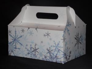 Pudełka zimowe 'Śnieżynki'
