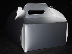 Pudełka na torty - koszyczki srebrne