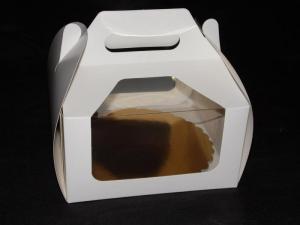 Pudełka koszyczki z okienkiem rozm. 22x22x11
