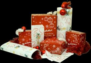 Pudełka świąteczne czerwone 'Renifer'