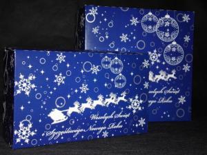 Pudełka świąteczne niebieskie 'Renifer'