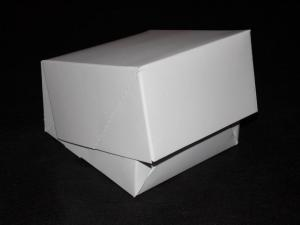 Pudełko białe na ciastko/pączek/figurkę