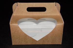 Pudełka koszyczki+okienko serce